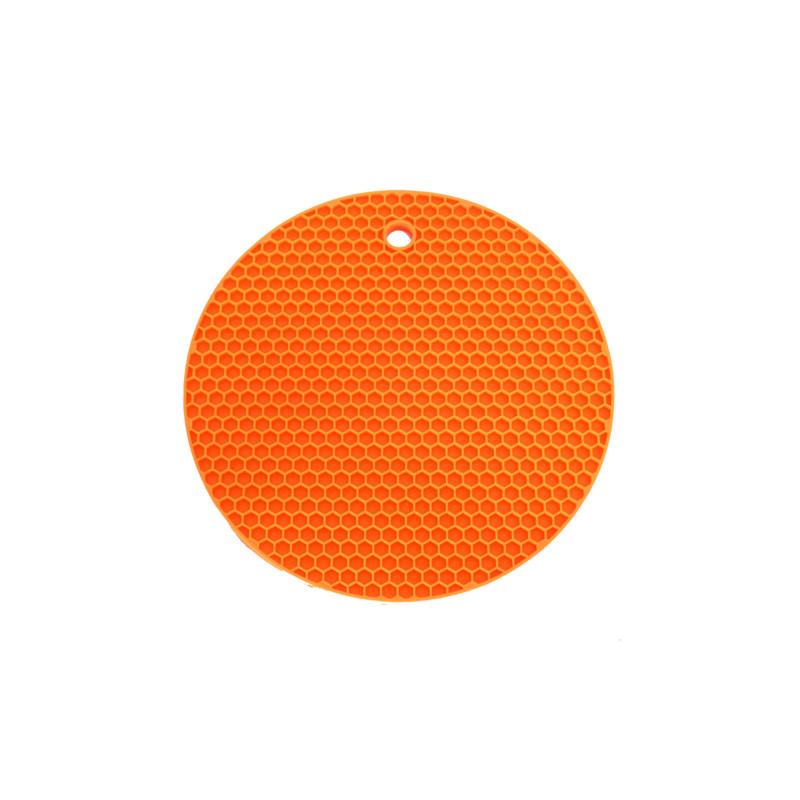 Topflappen Rund – Mandarinnorange
