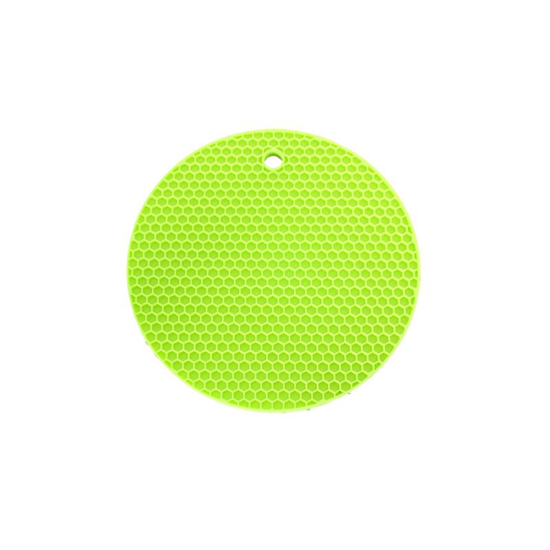 Topflappen Rund – Limettengrün