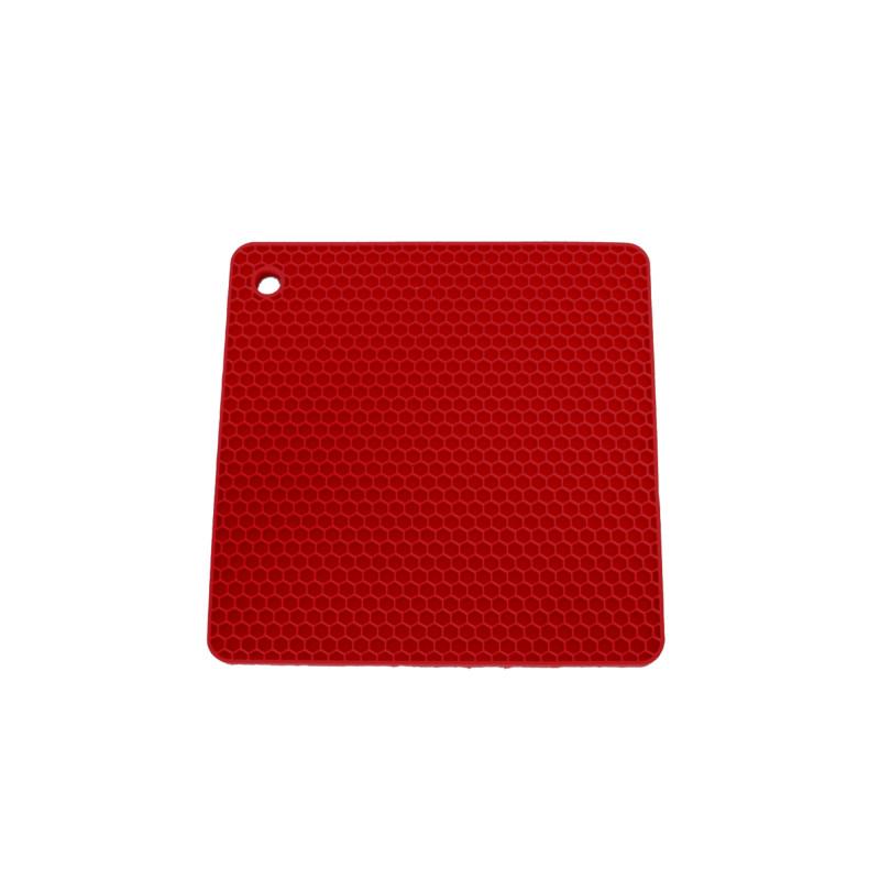 Topflappen Quadrat – Feuerrot